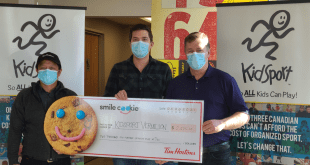 Vermilion Tim Horton's supports KidSport with over $2,500