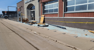 Hit and run destroys Cold Lake Restaurant Patio