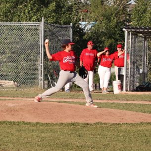 Cale Rupp getting his shot on the mound