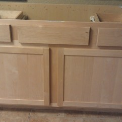 Unfinished Kitchen Cabinets Cafe Wall Decor Shaker Style All Wood In Stock