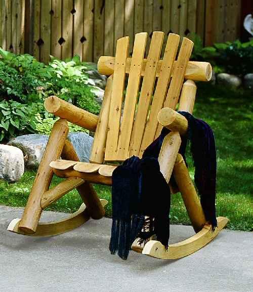 cedar rocking chairs white armless office chair log lakeland mills