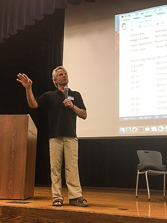 Rob Karner addresses the group