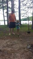 Fishing off the dock with grampa Scott Tjossem 2