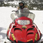 Wedding snowmobile adventure