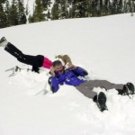 Snowball fight wedding adventure in Lake Tahoe