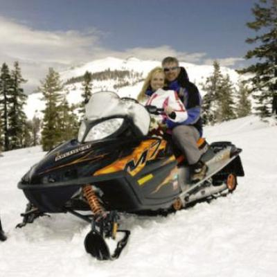 Snow machine wedding adventure in Lake Tahoe
