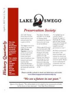 Lake Oswego Newsletter Vol 1, No 2