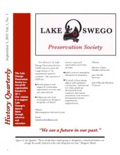 Lake Oswego News Vol 1 No. 1