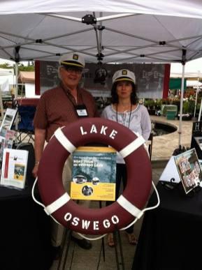 Directors Jack Walsdorf and Celine Mattersdorf at the Lake Oswego Farmer's Market
