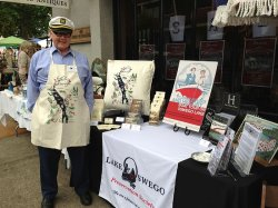Director Jack Walsdorf at the Sixpence Antique Fair