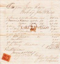 Oregon Iron Co. receipt for supplies purchased from John M. Breck June 21, 1867