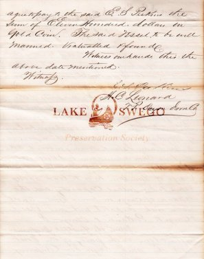 Letter from H. C. Leonard re: limestone shipment from San Juan Island Page 1 - May 27, 1867