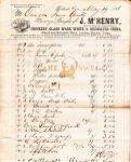 Oregon Iron Co. receipt for supplies from J. McHenry Page 1 - May 19, 1866