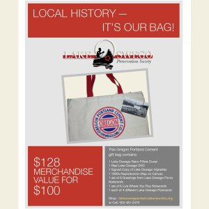 """""""It's in the Bag"""" A gift bag of items celebrating our local history"""