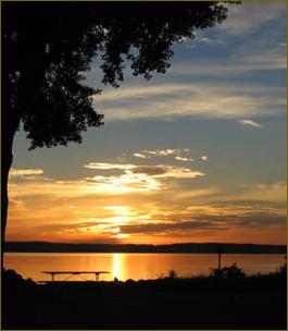 Sunset over Lake Pepin