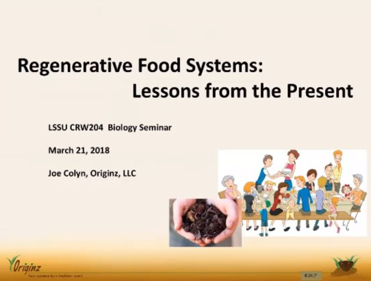 Regenerative Food Systems: Lessons from the Present – Joe Colyn