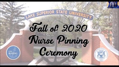 LSSU School of Nursing Pinning Fall 2020