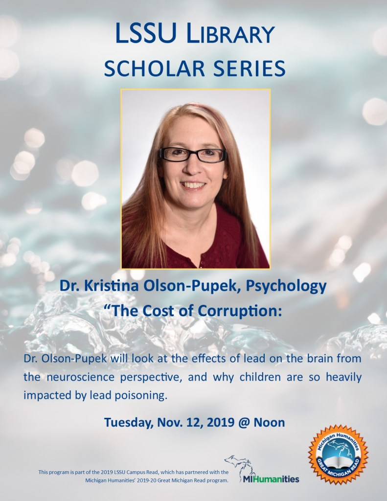 "Kristina Olson Pupek will be presenting  on ""The Cost of Corruption:"""