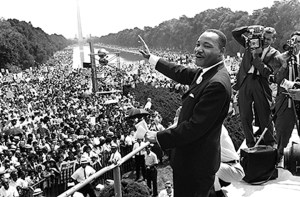 Dr. Martin Luther King Jr. gave his stirring 'I Have a Dream' speech during the 1963 March on Washington. (Photo courtesy of WEDU PBS)