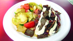 The gyro platter with sautéed veggies is one of the popular healthy dishes at Gyro Zone in Lutz.