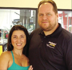 Michelee and John Coffield, owners of Meineke Total Car Care in Land O' Lakes.