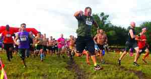The Oct. 4 Mud Run raised money for Saint Leo University's Veteran Student Services. The department provides support and resources to help military personnel adjust to student life.  (Fred Bellet/Photo)