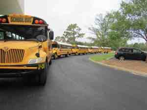 Buses will line up once again next school year when the massively remodeled Quail Hollow Elementary School reopens its doors. It was closed to create more traditional classroom spaces to replace its former 'open' design. (File Photo)