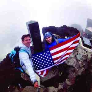 Seva Granin, left, met up with his friend from college, Zach Lee, to climb to the top of Mt. Fuji. (Courtesy of Vesvolod 'Seva' Granin)