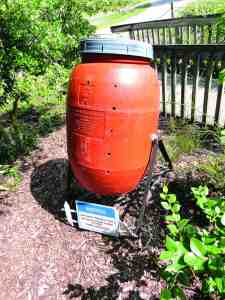 There are different ways to create compost to help your landscape thrive. This is one example of a composting bin. (Courtesy of Jim Moll)