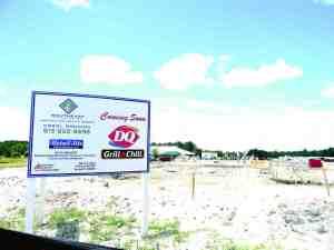 Dairy Queen is expected to open by July 4 on a parcel next to the Terra Bella subdivision off State Road 54 in Land O' Lakes. (Kathy Steele/Staff Photo)
