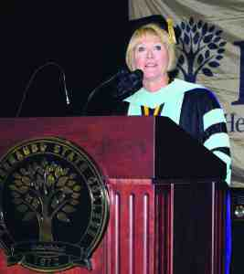 Katherine Johnson, president of Pasco-Hernando State College, retires on June 30, after a decade of leading the school. (Courtesy of Pasco-Hernando State College)