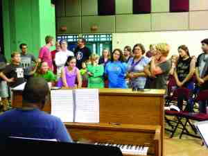 Even the most well-known songs need a lot of practice to get them just right. The New Tampa Players' cast of 'Mary Poppins' rehearsed 'Supercalifragilisticexpialidocious' as a group ahead of opening weekend.