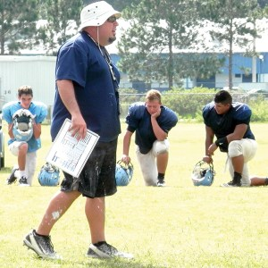 Wesley Chapel head coach Tico Hernandez isn't just trying to build a successful football program. He's trying to build character in his players. (Michael Murillo/Staff Photos)
