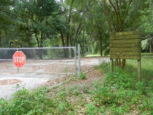 A fence prevents vehicles from entering the shuttered Hercules Park, but the city of Zephyrhills remains hopeful that it will be able to buy the park from the school district. (File Photo)