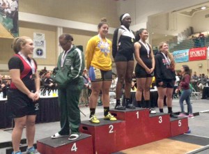 Sunlake High's Brianna Anderson won first place in the 183-pound division in the Class 2A Florida High School Athletic Association (FHSAA) Girls Weightlifting Championships. She recorded a 165-pound bench press and a 220-pound clean-and-jerk for a 385-pound total.