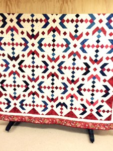 This quilt is an example of a Hoffman challenge quilt. (Courtesy of The Pioneer Florida Museum & Village)