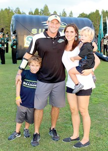 Nick Carroll recently was named the new football coach at Zephyrhills High School. He is pictured with his wife, Jill, and two sons Zacary, left and Maison, right. (Courtesy of Nick Carroll)