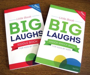 These little joke books are meant to entertain and help raise money at the same time. The books help families in need to take care of a variety of medical expenses. (B.C. Manion/Staff Photo)
