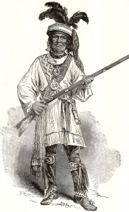 After meeting with U.S. President Millard Fillmore at the White House, Seminole Chief Billy Bowlegs initially agreed to surrender. The U.S. government later offered Bowlegs $10,000 to relocate to the Indian Territory in present-day Oklahoma. Bowlegs had led his warriors on sporadic attacks, which may have included the Bradley Massacre. (Credit: Harper's Weekly, June 12, 1858)