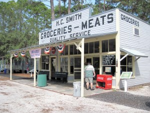 H.C. Smith Groceries, was built in 1915 and originally stood on the southeast corner of Sixth Avenue and Fifth Street South in St. Petersburg. The store served as a grocery and meat market.