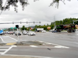 An 18-wheeler moves through the intersection at State Road 54 and U.S. 41. A task force is looking at ways to improve the intersection, and ease congestion. (File Photo)