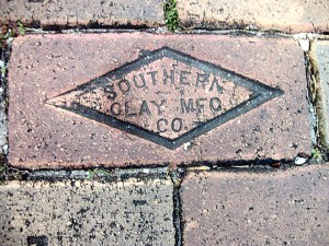 This company logo is frequently found on the brick streets in Dade City. In 1933, the Southern Clay Manufacturing Company had contracts with Miami, Jacksonville, St. Augustine and St. Petersburg. At least 80,000 bricks were made daily for streets. The company also made fire and chemical bricks, clay sewer pipe, various construction bricks and telephone line conduit. (Photos courtesy of Doug Sanders)