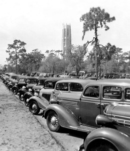This photograph is believed to be from the dedication day of Bok Tower Gardens on Feb. 1, 1929. (Courtesy of Bok Tower Gardens)