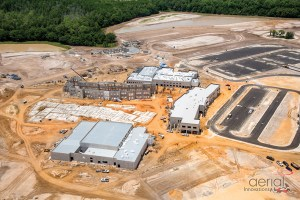 Construction activity is well under way on a new high school on Old Pasco Road, which will open initially as a high school and a middle school in the 2017-2018 school year. It is one of the district's biggest capital improvement projects this year. (Image courtesy of Pasco County Schools)