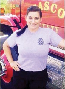 Stephanie Sorenson is one of five finalists for volunteers 'who represent the best of the fire service,' in nationwide campaign. (Courtesy of Pasco County Fire)