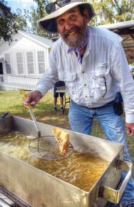 Joseph Alexander, of Dade City, provides the alternative, fat-fried mullet. Customers could choose smoked or fried mullet for the same price.