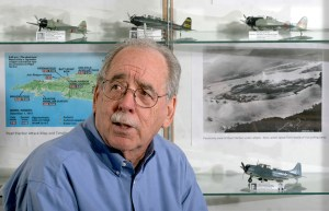 Lutz resident Davis Gandees put together a showcase of history commemorating Pearl Harbor Day at the Lutz Branch Library. (Fred Bellet/Photos)