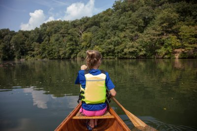 Canoe at Lake Roland