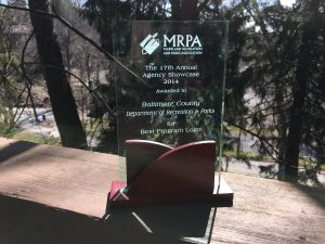 Maryland Recreation and Parks Association award for Best Program Logo 2014