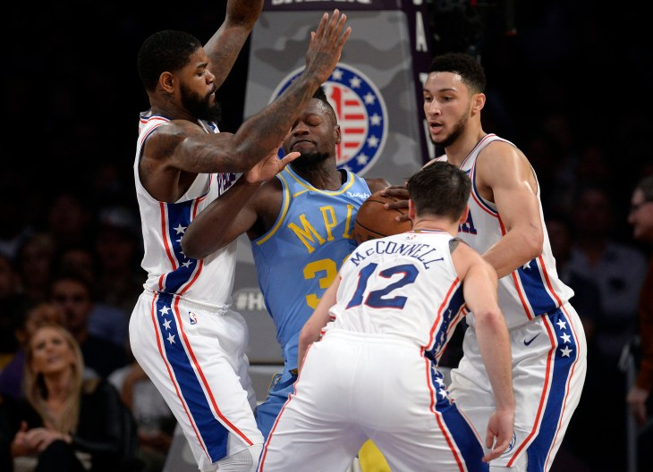 NBA: Philadelphia 76ers at Los Angeles Lakers